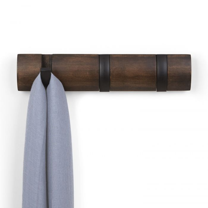 Flip 3 hook black walnut