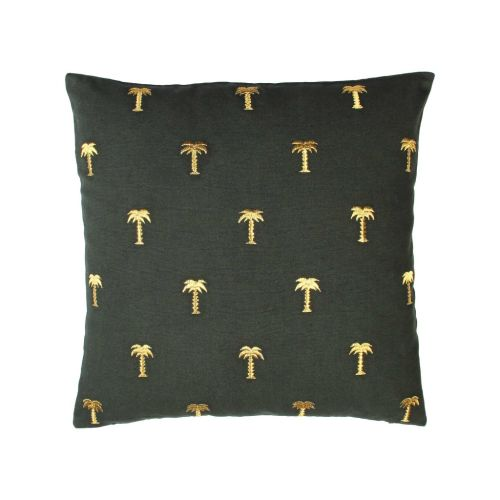 Cushion palm tree gold 40x40