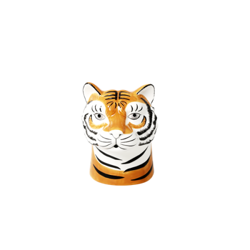 Ceramic vase tiger head small