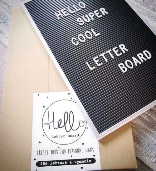 Hello letterboard