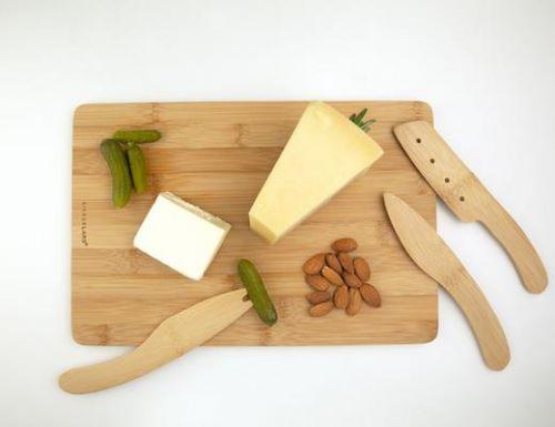 Cut & serve bamboo cheese board