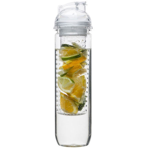 Bottle with fruit piston clear