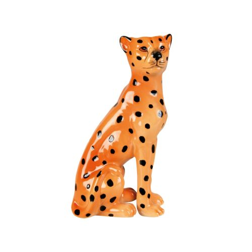 Leopard candle holder right