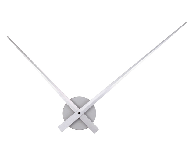 Wall clock little big time silver