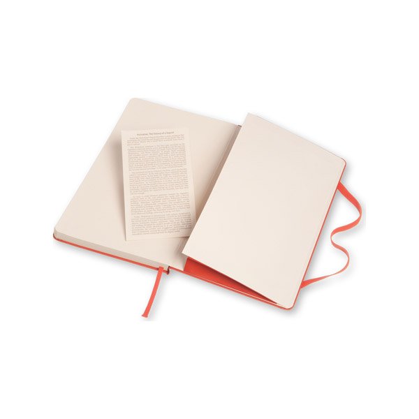 Moleskine pocket ruled coral orange hardcover