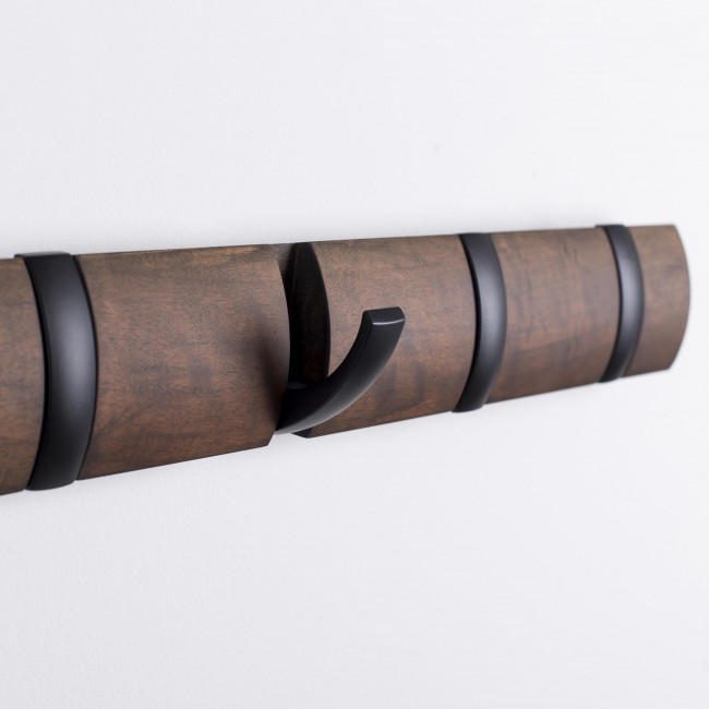 Flip 8 hook black walnut