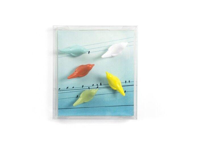 Magnet birdie set van 5