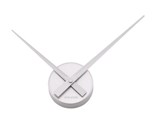 Wall clock little big time mini silver