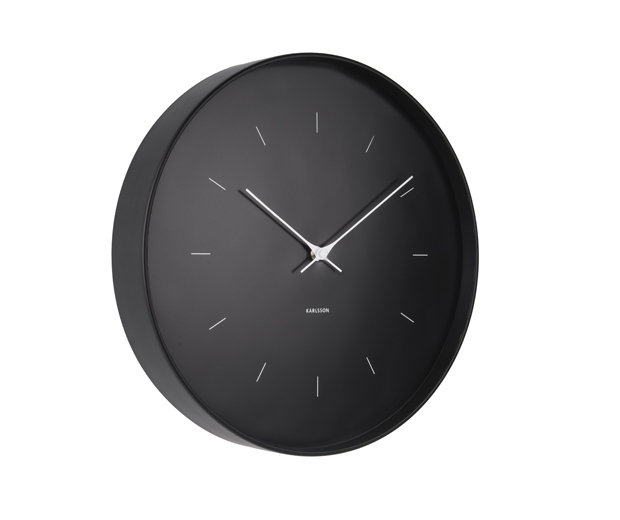 Wall clock butterfly hands large black