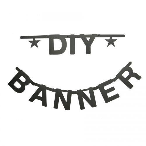 Letter banner zwart