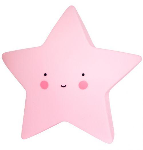 Mini sterlampje roze