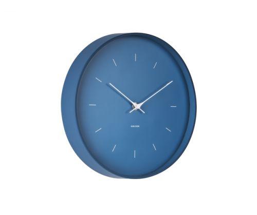 Wall clock butterfly hands dark blue