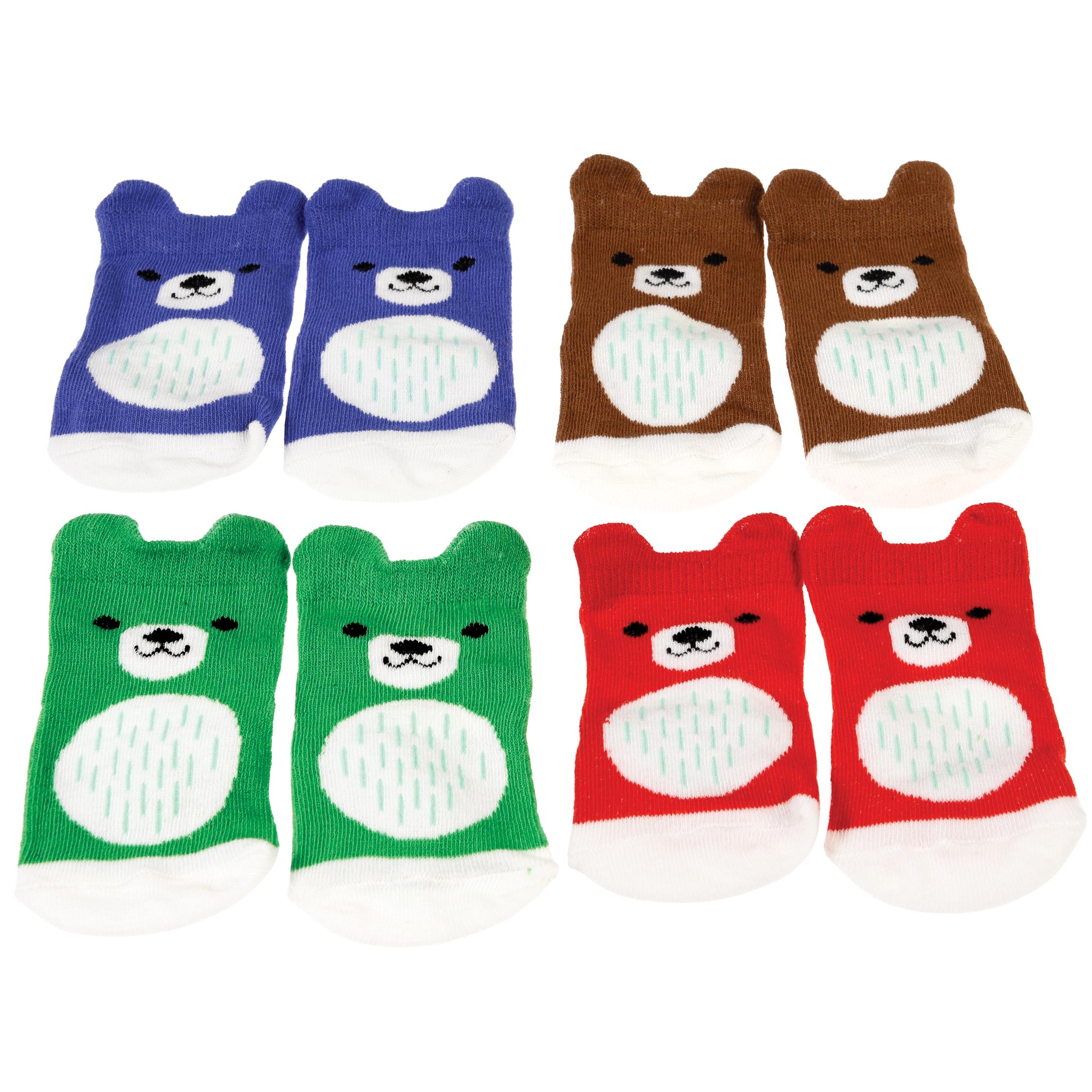 Bear baby socks 4 paar