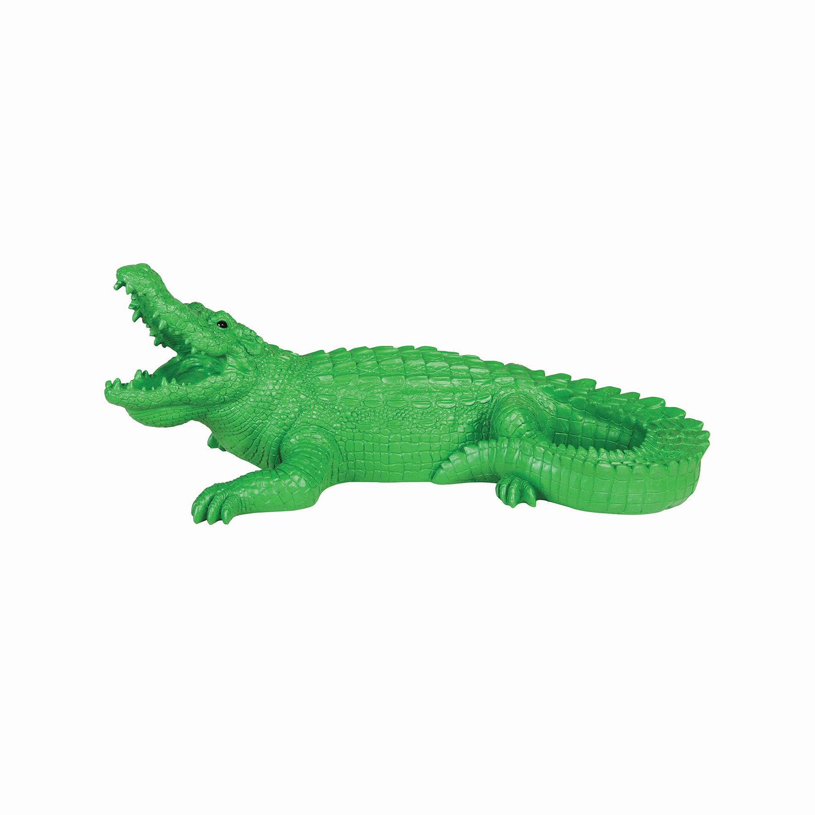 Coinbank crocodile green