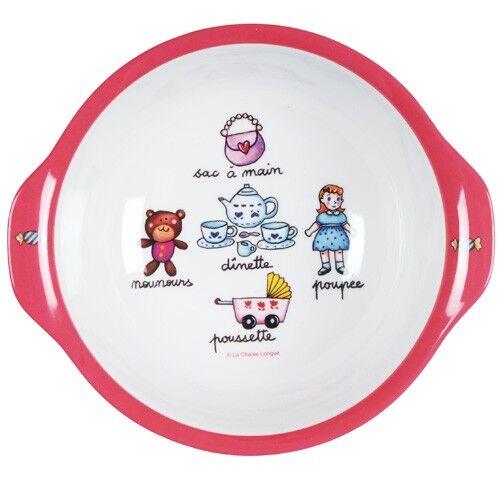 Bord diep meisje roze