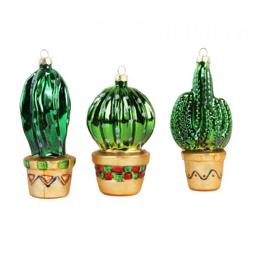 Cactus ornaments set van 3