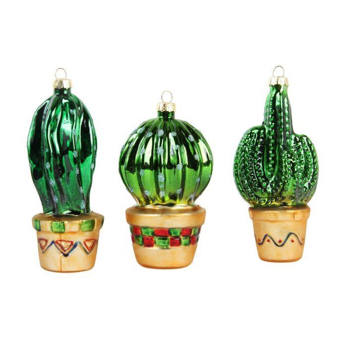 Cactus ornaments set van 3