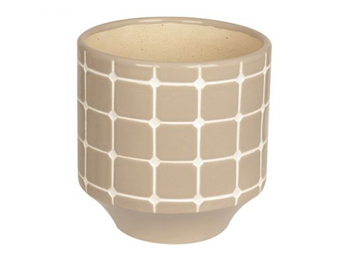 Plant pot tiles warm grey M