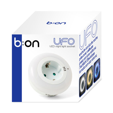 Night light socket ufo multicolor