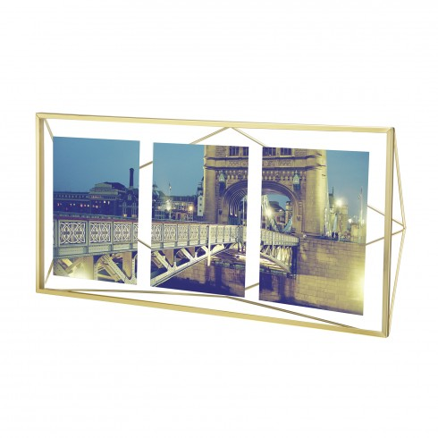 Prisma multi photo display brass
