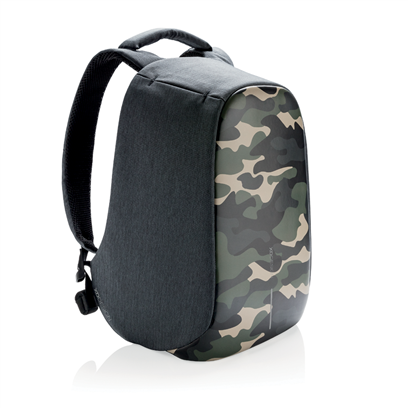 Bobby compact anti-theft backpack camouflage green