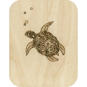 Wooden card turtle