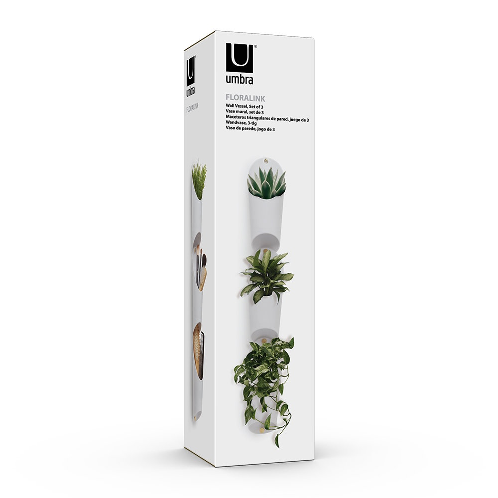 Floralink wall vessel white
