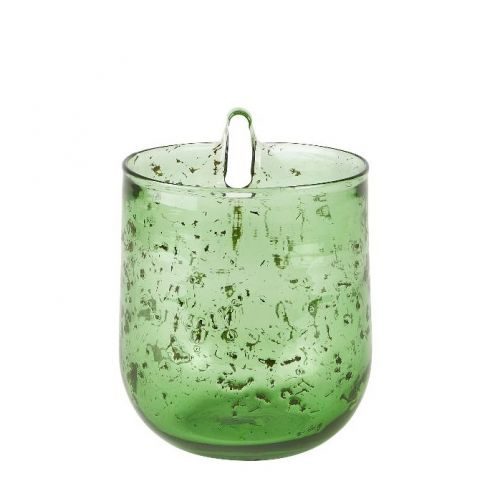 Flower pot wall glass green large