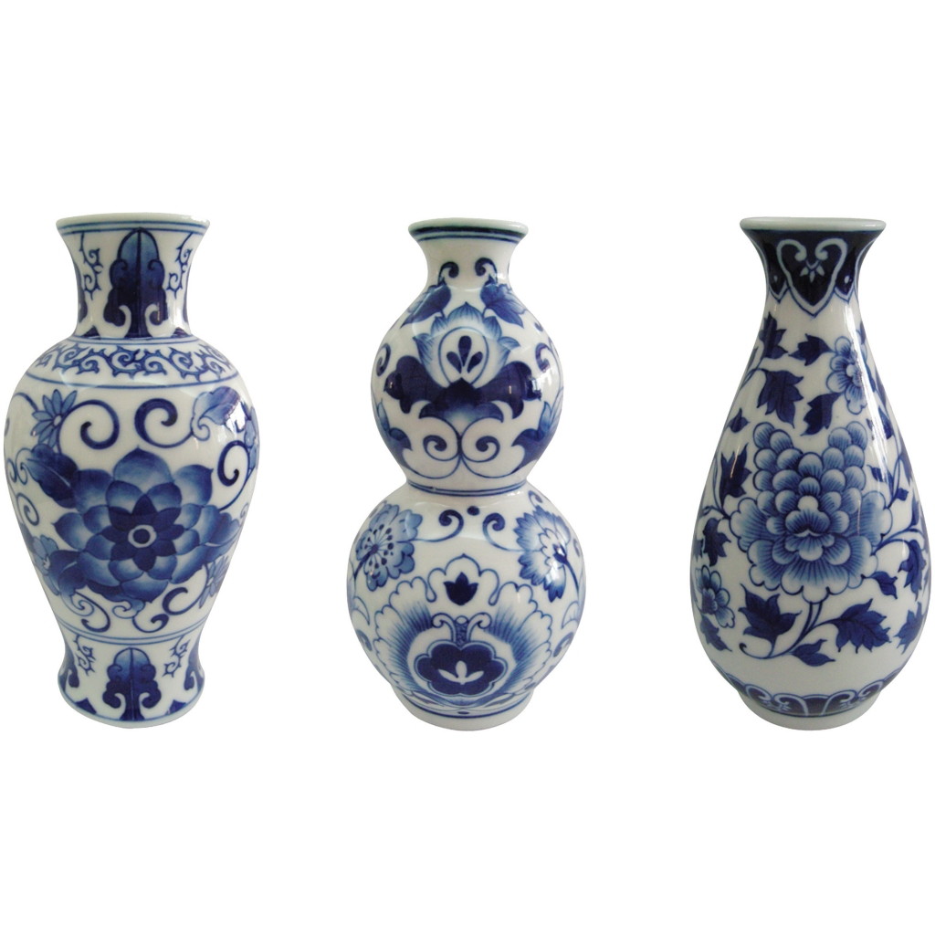 Dutch delight vases set of 3