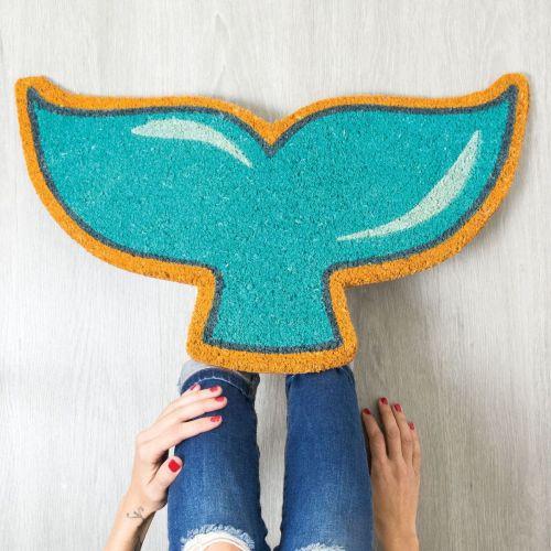 Doormat mermaid tail