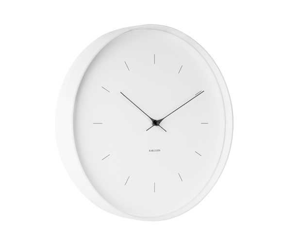 Wall clock butterfly hands large white