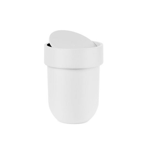 Touch can with lid white