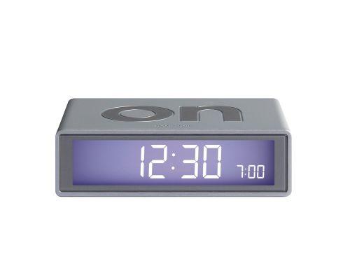 Flip + alarm clock glossy aluminium