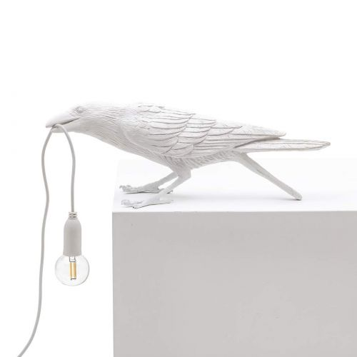 Bird lamp playing white