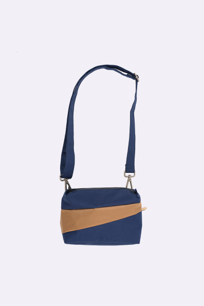 Bum bag navy & camel S