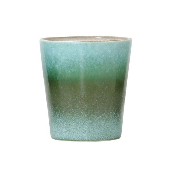 Ceramic 70's mug grass