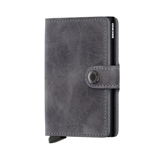 Mini wallet vintage grey-black