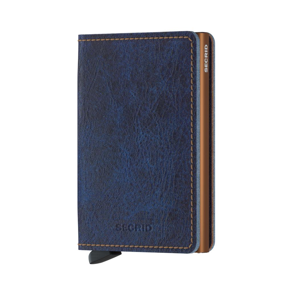 Slim wallet indigo rust