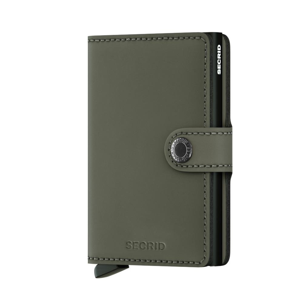 Mini wallet matte green