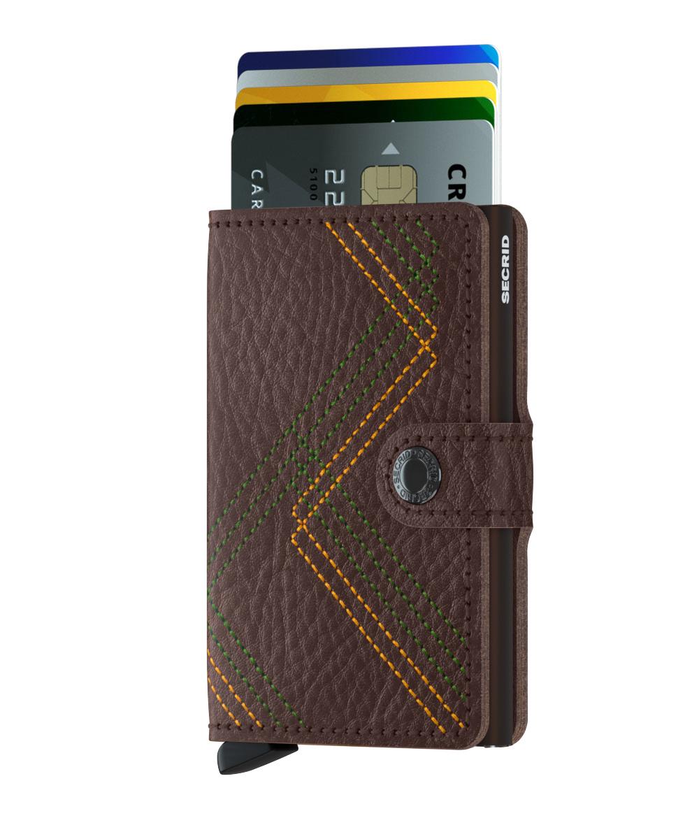 Mini wallet stitch linea espresso