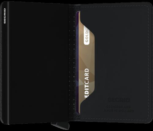 Sim wallet perforated black