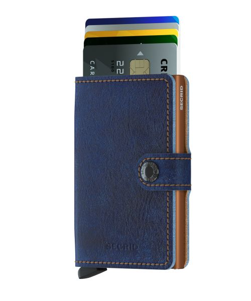Mini wallet indigo rust