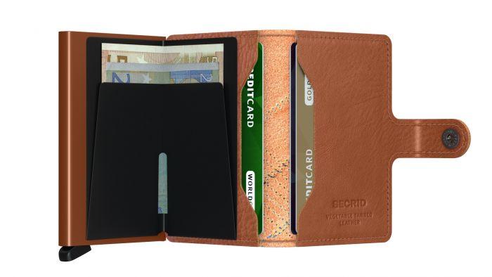 Mini wallet stitch linea caramello