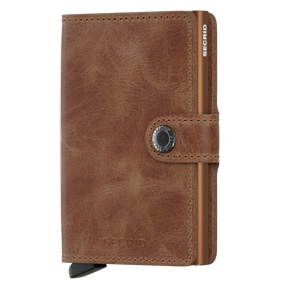 Mini wallet vintage cognac rust