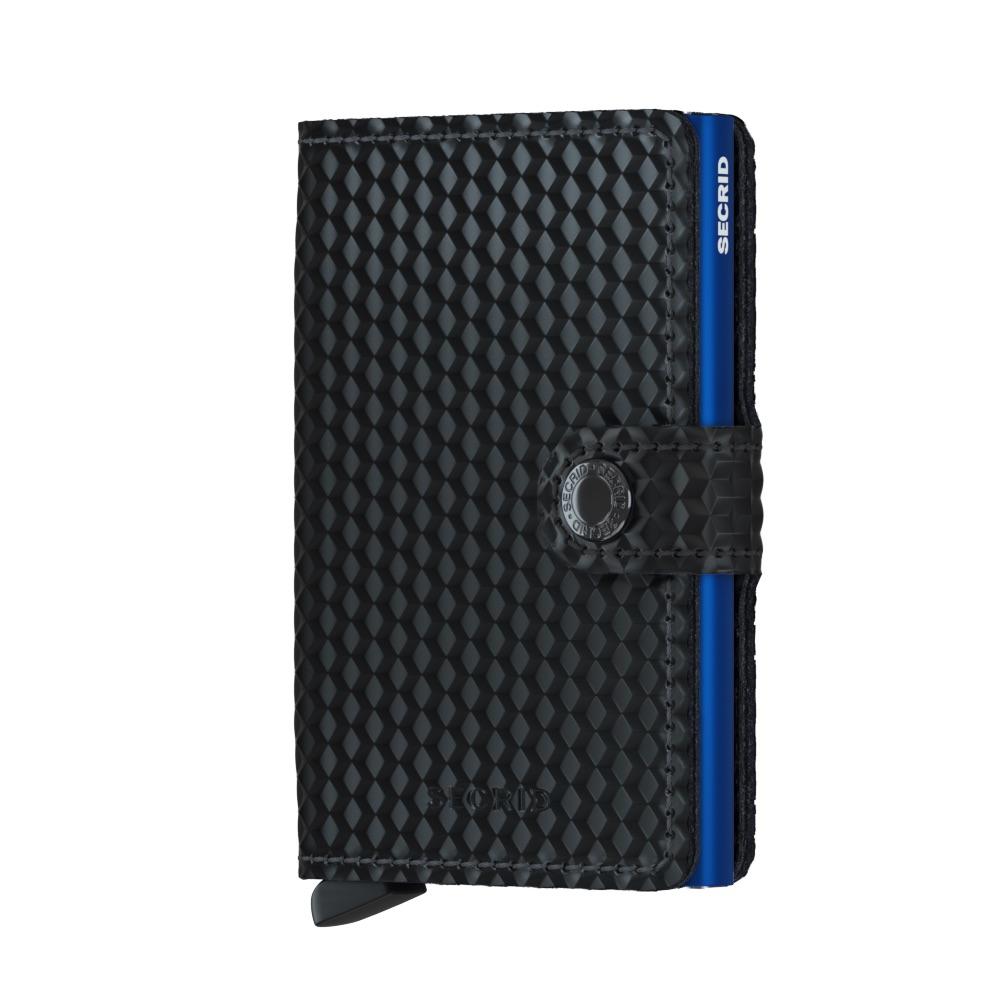 Mini wallet cubic black-blue