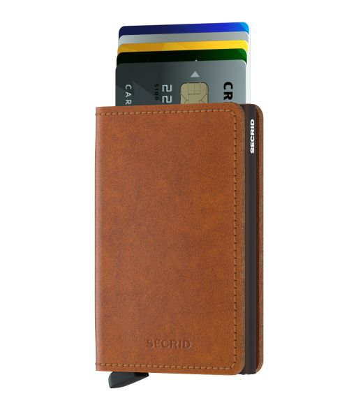 Slim wallet original cognac