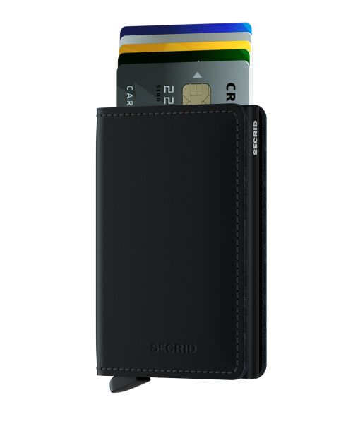 Slim wallet matte black