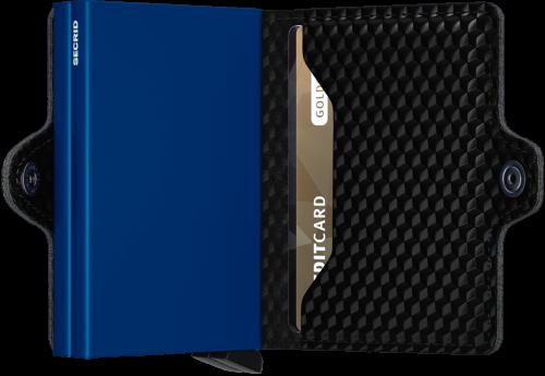 Twin wallet cubic black blue
