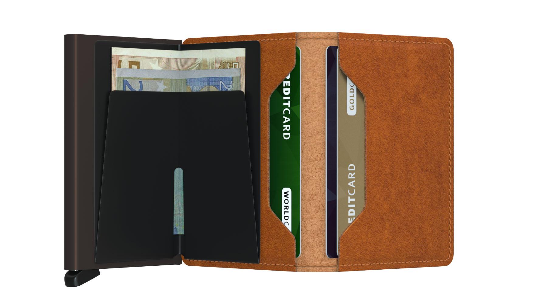 Slim wallet original cognac