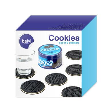 Cookie coasters set van 6